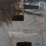 """Villa, 2015 Oil, Collage on paper, 11"""" x 16"""""""