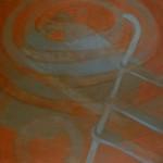 """Sunken Ladder, 2013 Oil on Canvas 60"""" X 90"""""""