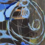 """Twisted Wiring, 2020, Flashe on paper 11 1/2"""" x 8"""""""